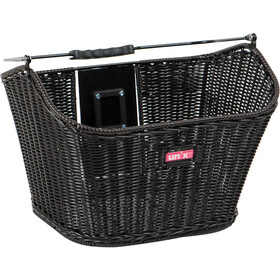 Unix Manolo Front Wheel Basket KlickFix, finely woven black